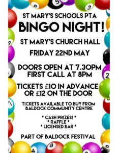 Bingo Night @ St Mary's Church Hall @ St Marys Church Hall