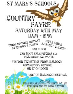 Country Fayre with Birds of Prey and Car boot sale @ St Marys School